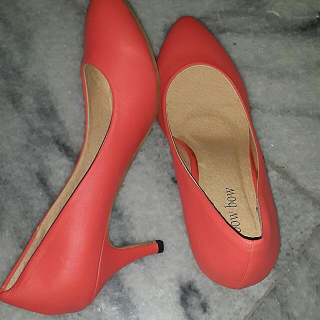 Bow Bow Orange Heels