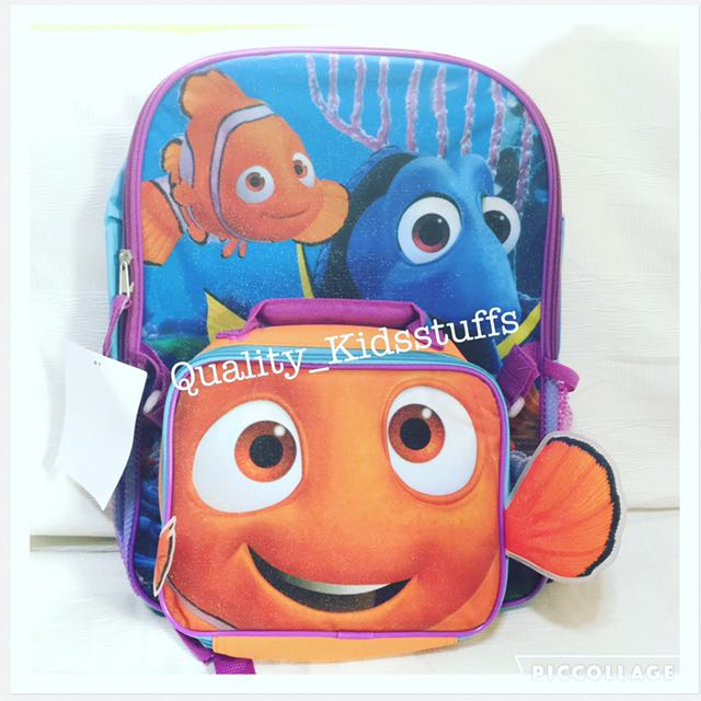 Brand New Finding Dory 16 Inch Backpack W/ Insulated Lunch Bag