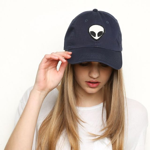 fee6e7ef33a Brandy melville katherine alien patch baseball cap