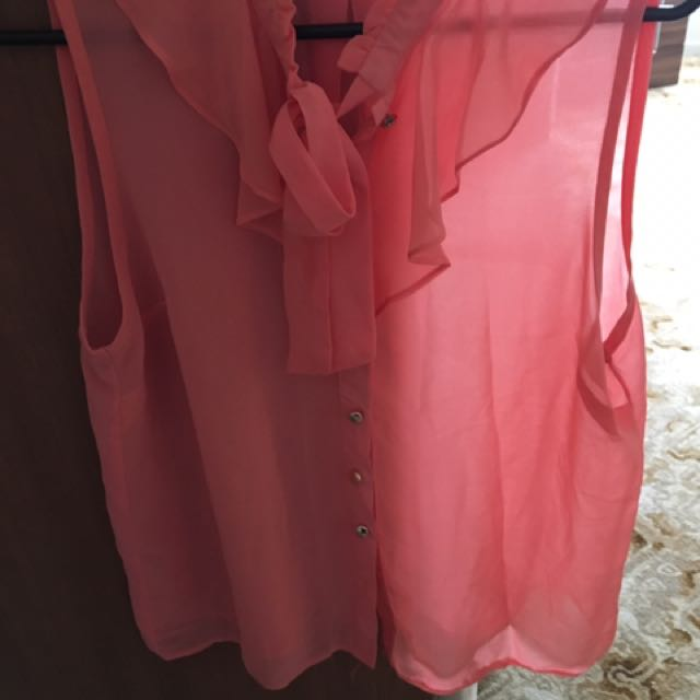 Button Up Size 12 Blouse/Top
