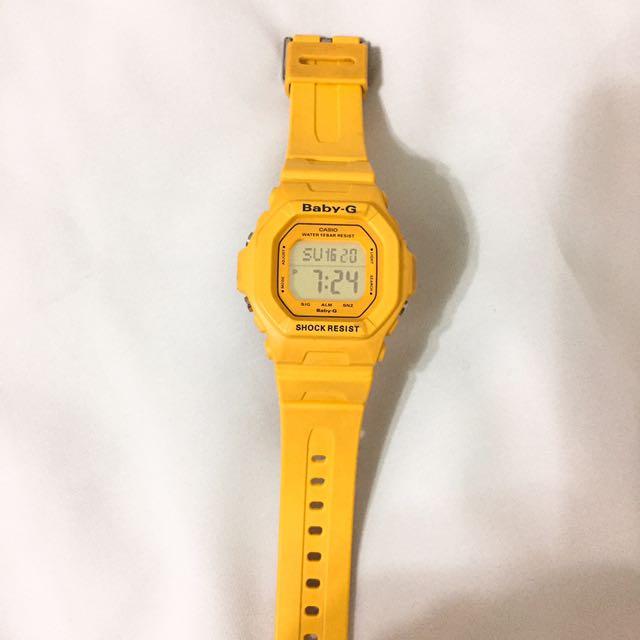 Casio Baby-G 鵝黃色電子錶