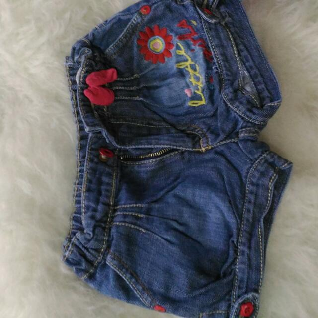 Celana Jeans Pendek Merk Colours Size 1