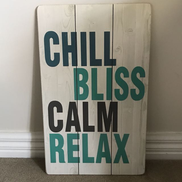 CHILL BLISS CALM RELAX CANVAS