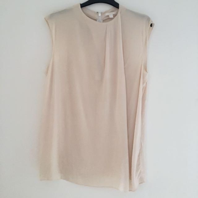 0c50a0c0e5032 COS Drape Front Silk Blouse