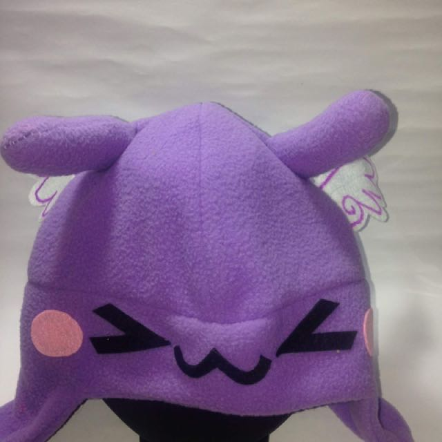 Cosplay kawaii purple angel hat