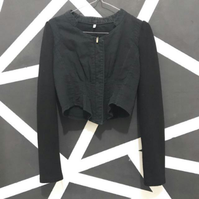 Crop Jacket Black