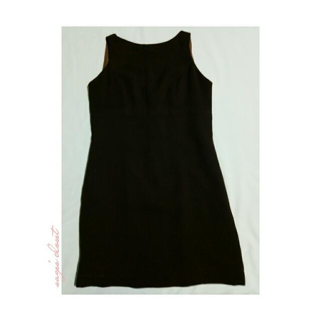 dark brown flattering dress