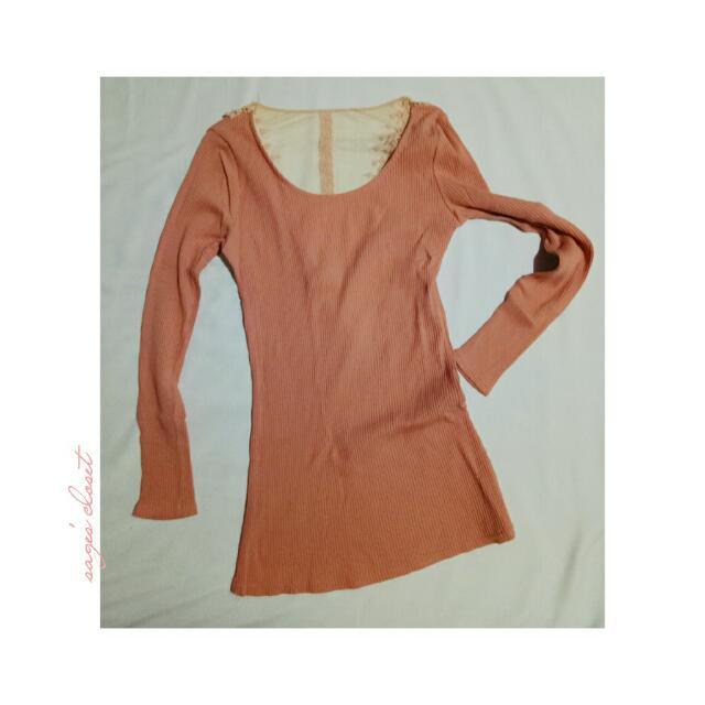 designed back (peach) longsleeves