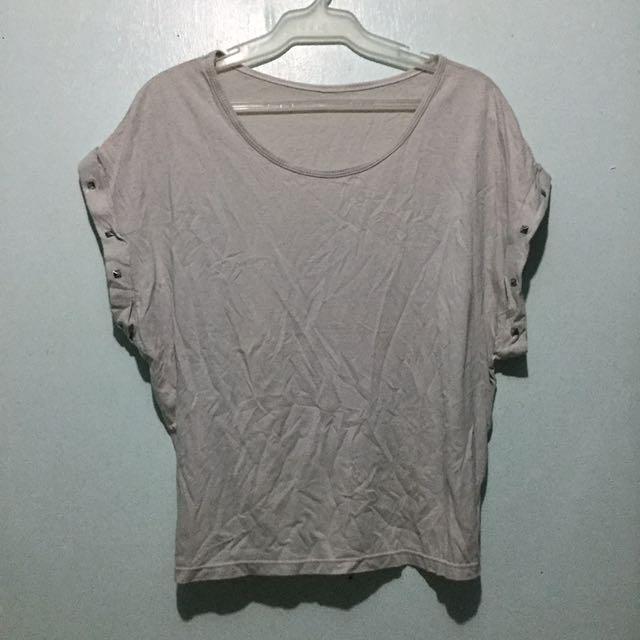 Dirty white / Greyish white studded Shirt