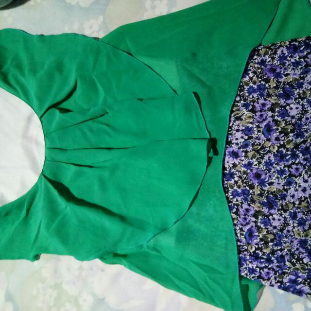 Dress Hijau Bunga