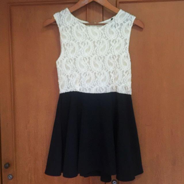 Dress Lace White Putih Renda