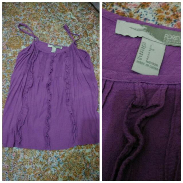 F21 Purple Top