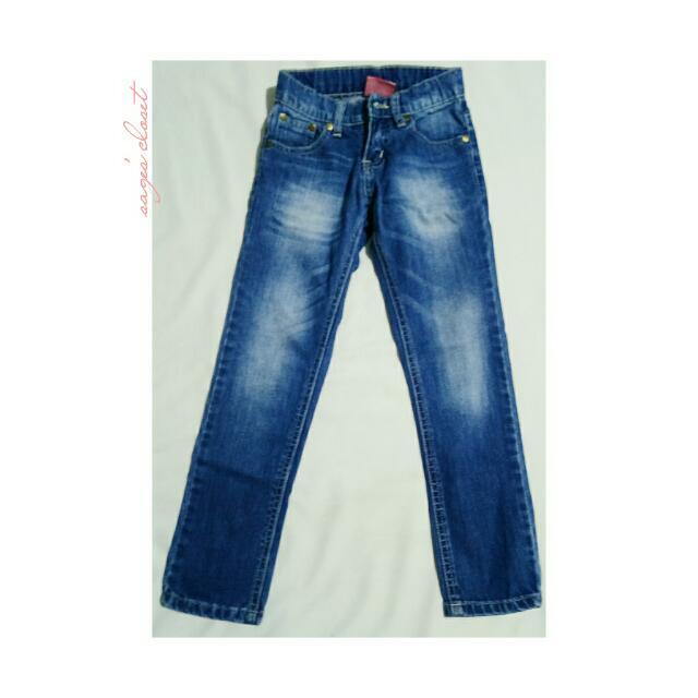 faded denim pants
