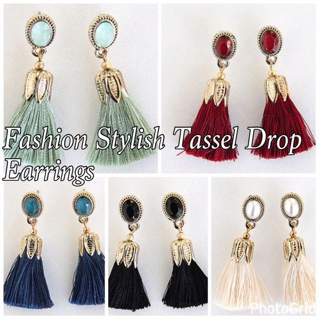 Fashion Stylish Drop Tassel Earrings
