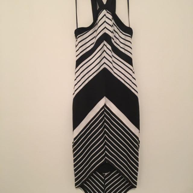 Forecast Striped Bodycon Dress