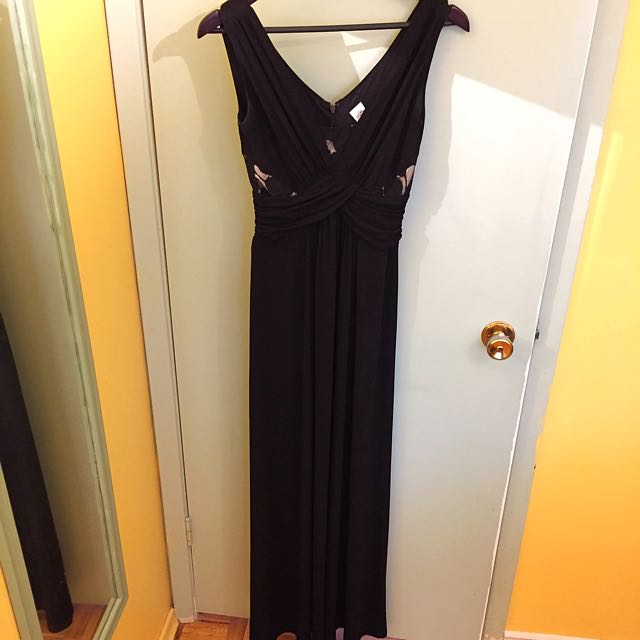 Formal Black Maxi Dress