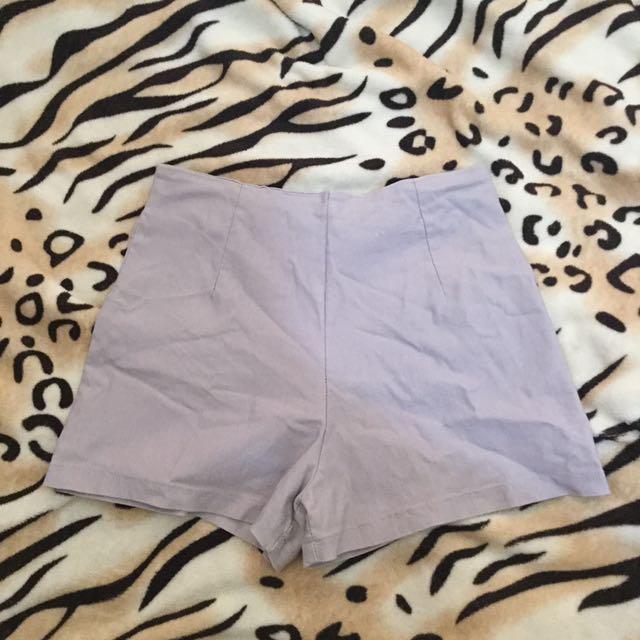 Gray High Waisted Short