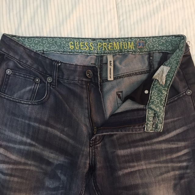 Guess Premium Rebel Leather Side Rock Jeans