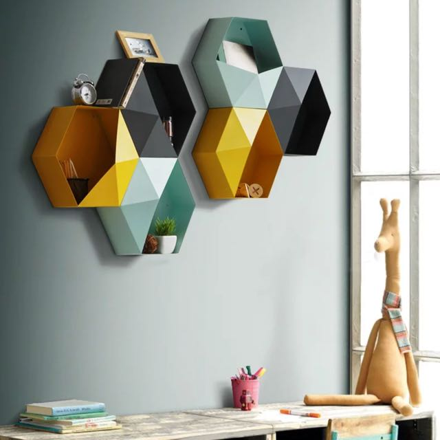 Get a life™ - Hexagon Wall Storage Decoration
