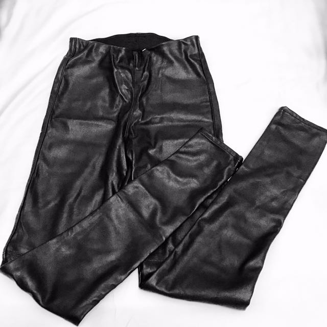 H&M PU Leather Long Pants