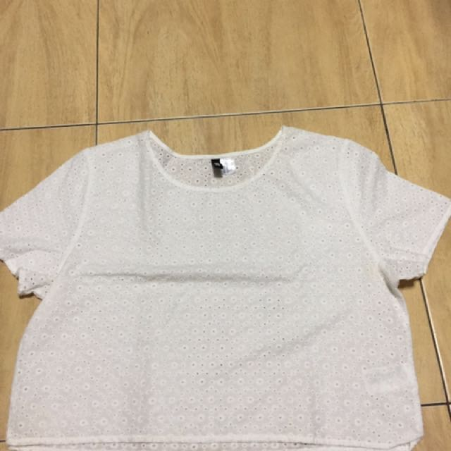 H&M White Hanging Top