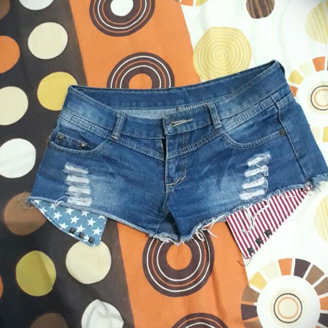 Hotpants America Ripped Jeans(celana Pendek Jeans)