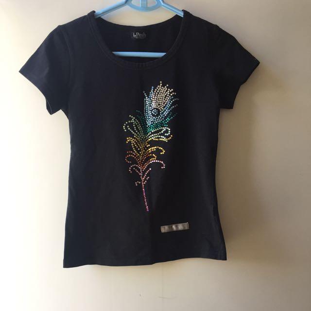 IPosh T-shirt With Swarovski Crystals