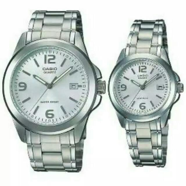 Jam Tangan Casio Couple Rantai Casio Original MTP LTP 1215A-1A ... 029158b313