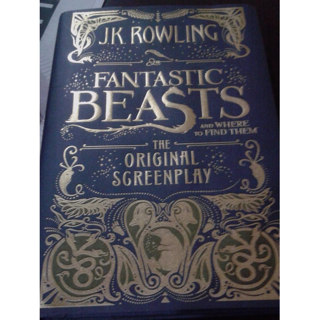 JK Rowling The Fantastic Beast The Original Screenplay