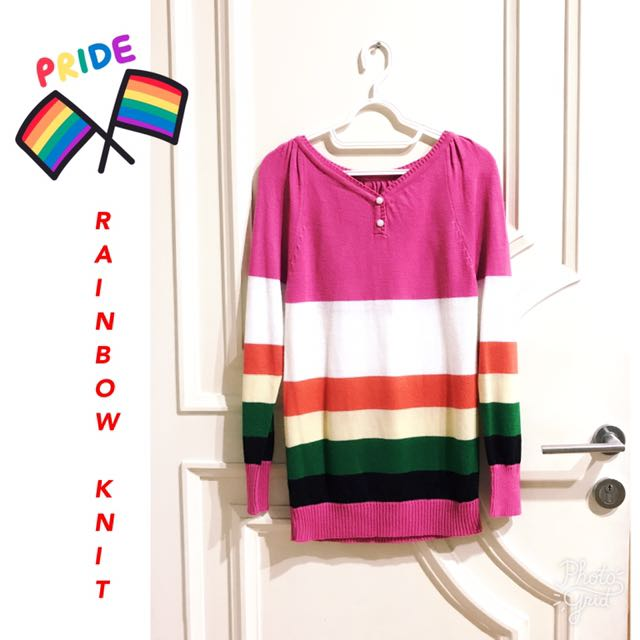 Knit Rainbow Sweater