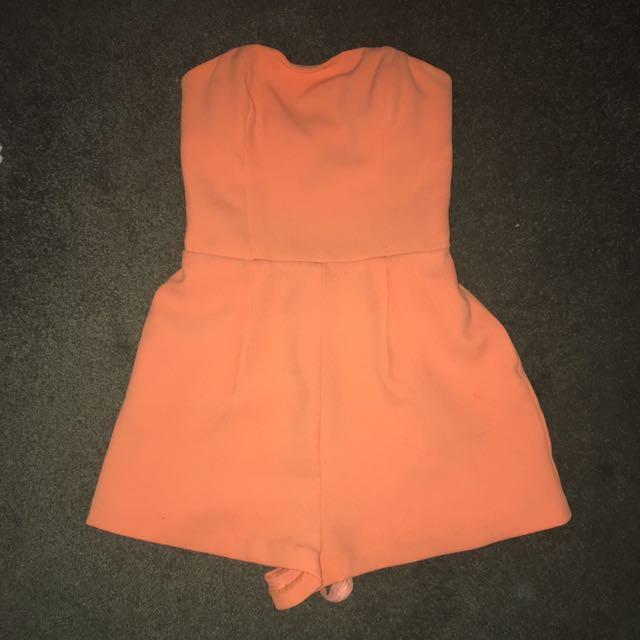 Kookai Orange Playsuit Jumpsuit Size 36 6
