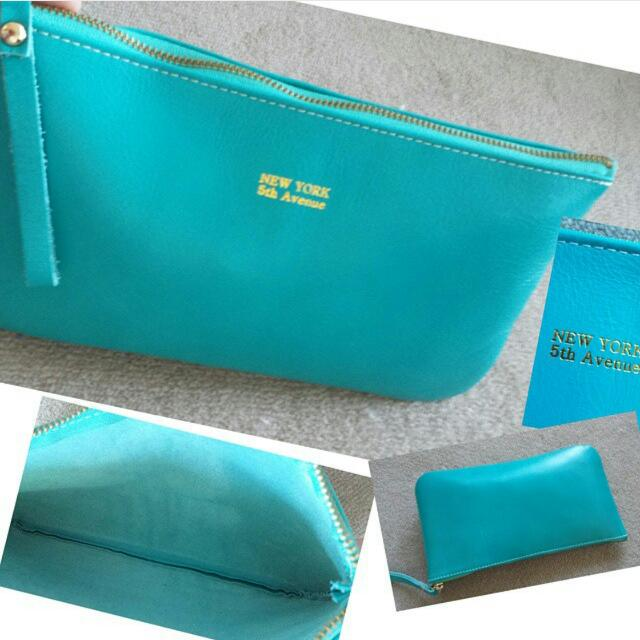Leather Envelope Clutch Wallet Pouch