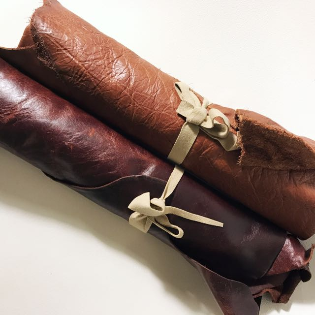 Leather Scraps Roll | Browns