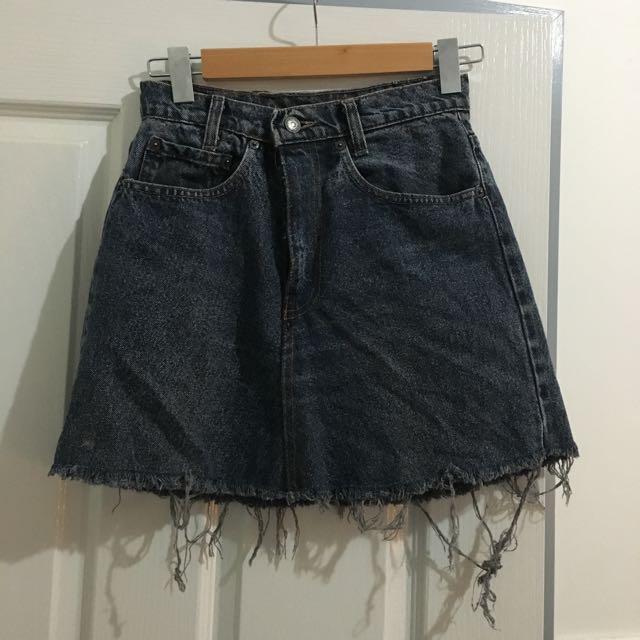 Levi's 550 Denim Skirt