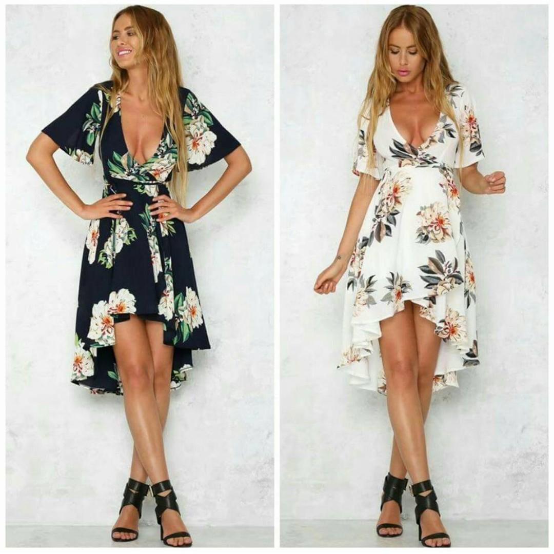 Long back Floral Print Dress