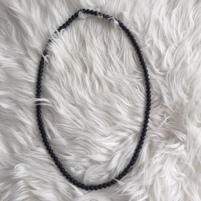 Long Black Necklace