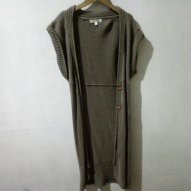 Long Knitted Cardigan (Short Sleeved)