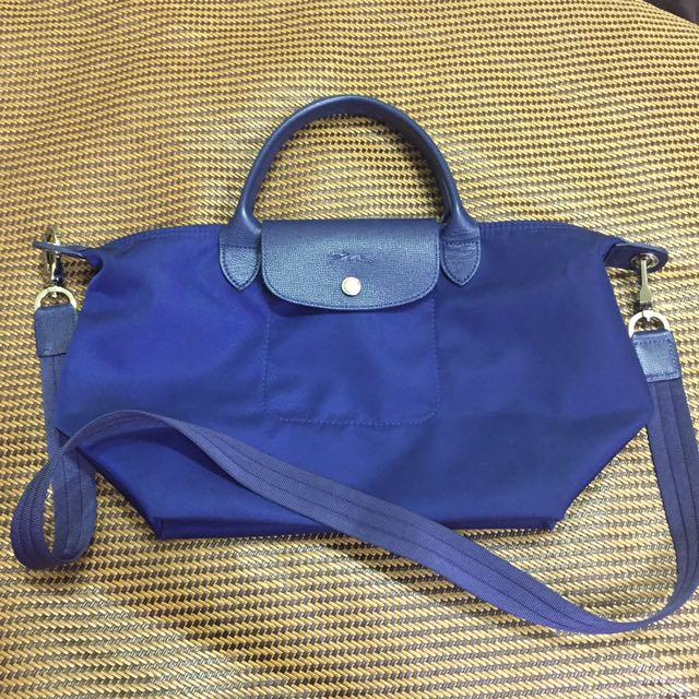 Longchamp neo 藍色 s號