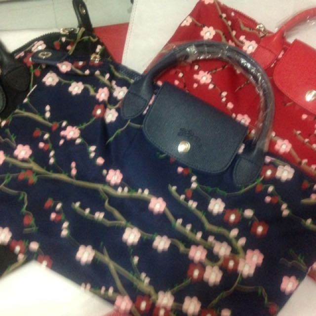 Longchamp sakura poppy red