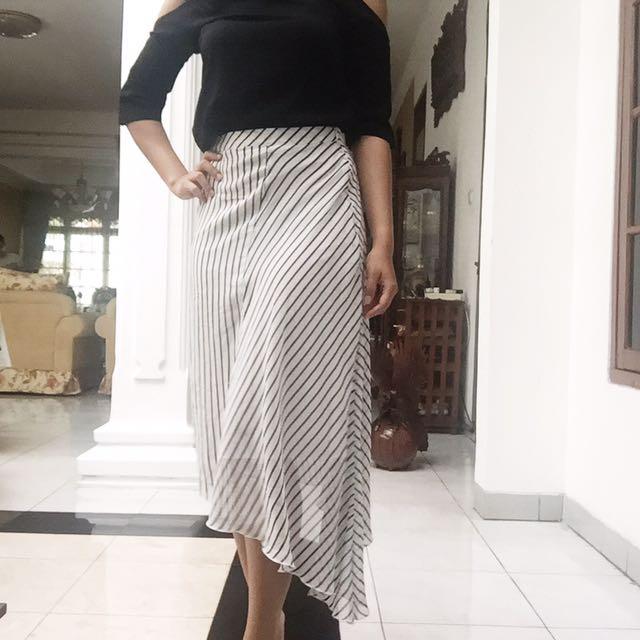 Mango Asymmetric Skirt Rok Asimetrik