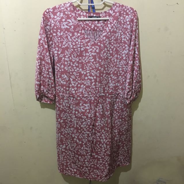 Mango Printed Hippie Dress (Large)