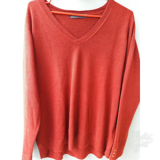 Marks & Spencer Ladies Deep Red Sweater