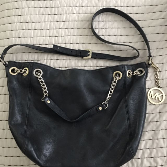 Michael Kors Black Leather Purse/bag