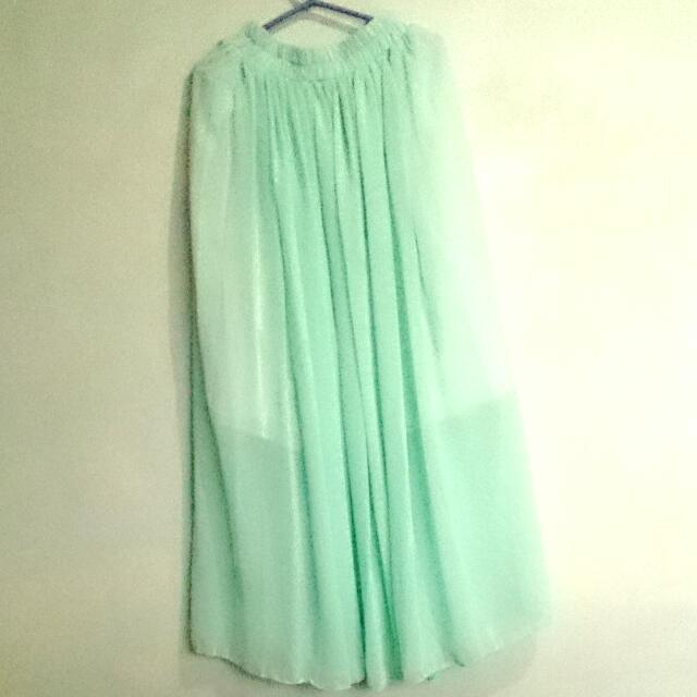Mint Green Long Skirt