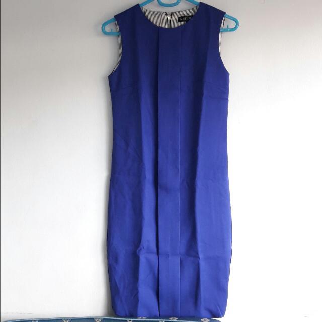 Brand New N. Strauss Blue Formal Dress