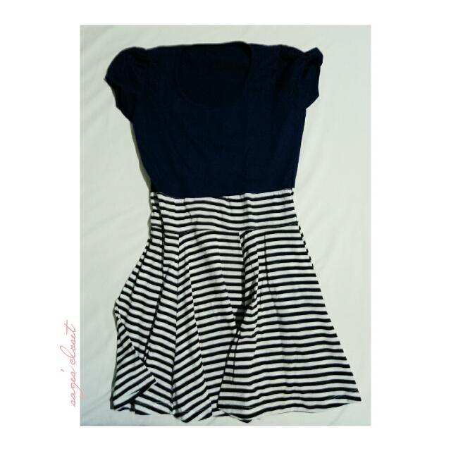 navy-inspired dress