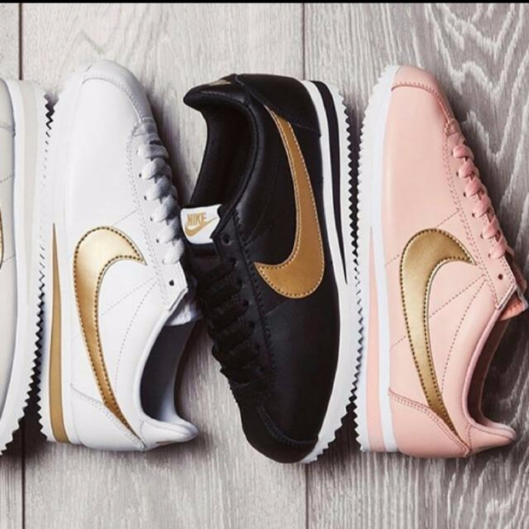 best service 29f95 17029 ... greece nike cortez white black gold pink womens fashion shoes on  carousell dfd5c d1ab3