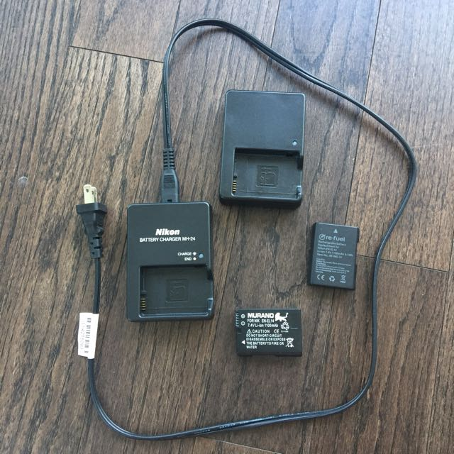 Nikon Charger And Battery (set Of 2 Each)