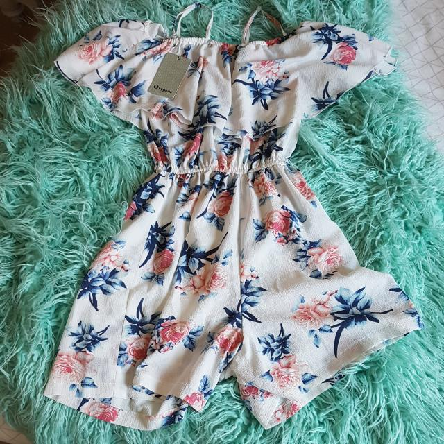Off The Shoulder Play Suit
