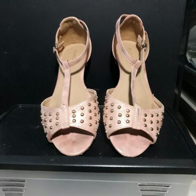 Parisian Metallic Pink Sandals